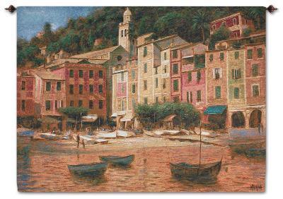 Portofino Scene--Wall Tapestry