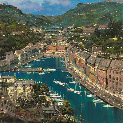 Portofino Twilight-Mario Sanzone-Art Print