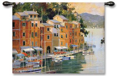 Portofino View-Marilyn Simandle-Wall Tapestry