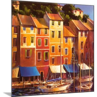 Portofino Waterfront-Michael O'Toole-Mounted Print