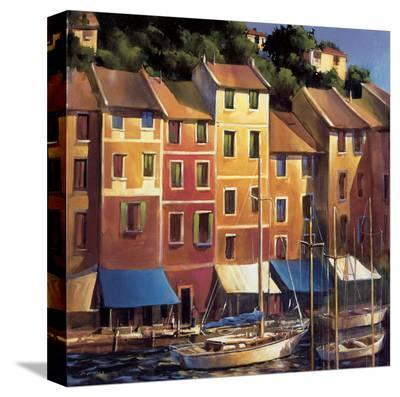 Portofino Waterfront-Michael O'Toole-Stretched Canvas Print