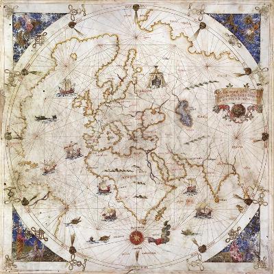Portolan Chart of the World, Venice, 1519--Giclee Print
