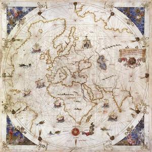 Portolan Chart of the World, Venice, 1519
