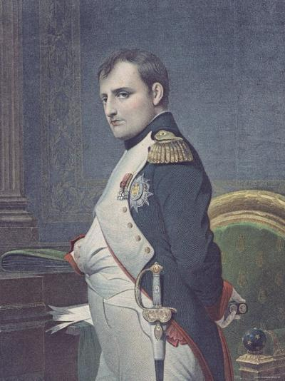 Portrait, After a Painting by Paul Delaroche, of French Emperor Napoleon Bonaparte in His Study--Photographic Print