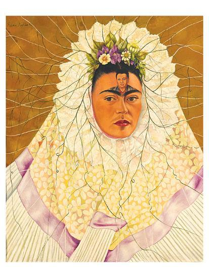 Portrait As Tehuana 1943-Frida Kahlo-Art Print