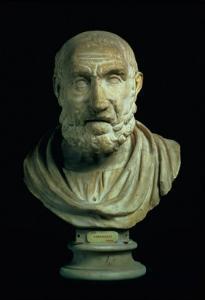 Portrait Bust of Hippocrates, Copy of Greek 4th Century BC Original