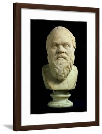 Portrait Bust of Socrates, Copy of Greek Early 4th Century BC Original--Framed Giclee Print