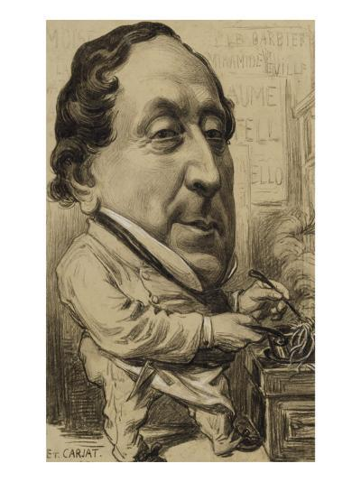 Portrait-charge de Gioachino-Antonio Rossini (1792-1868), compositeur, en cuisinier-Etienne Carjat-Giclee Print