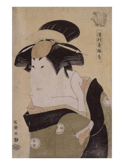 Portrait d'acteur de kabuki (okubi-e) : l'onnagata Segawa Kikunojô III-Tôshûsai Sharaku-Giclee Print