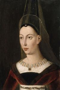Portrait d'Isabelle de Bourbon, seconde femme de Charles le Téméraire, morte en 1465