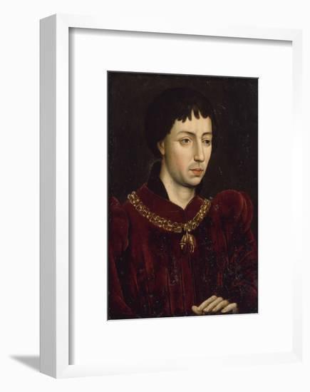 Portrait de Charles le Téméraire (1433-1477), duc de Bourgogne--Framed Giclee Print