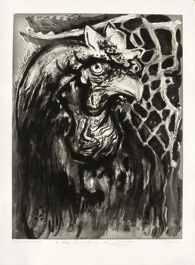 Portrait de coq (3?me ?tat)-Edouard Pignon-Premium Edition