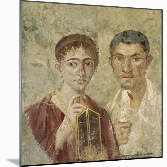Portrait de deux époux provenant de Pompéi--Mounted Giclee Print