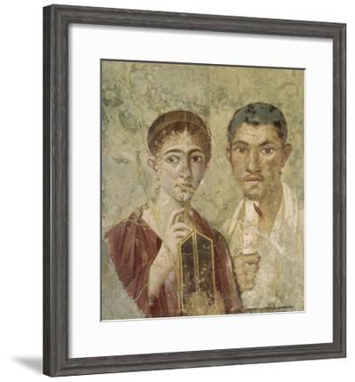 Portrait de deux époux provenant de Pompéi--Framed Giclee Print