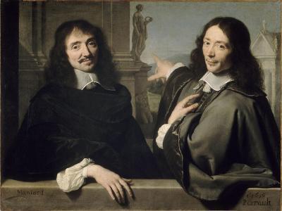 Portrait de deux hommes (autrefois F. Mansart et Ch. Perrrault)-Philippe De Champaigne-Giclee Print