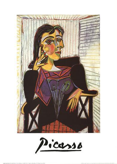 Portrait de Dora Maar-Pablo Picasso-Art Print