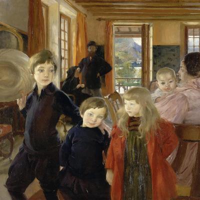 Portrait de famille-Albert Besnard-Giclee Print