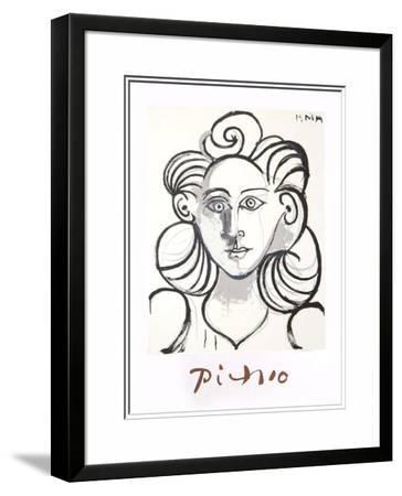 Portrait de Femme-Pablo Picasso-Framed Art Print