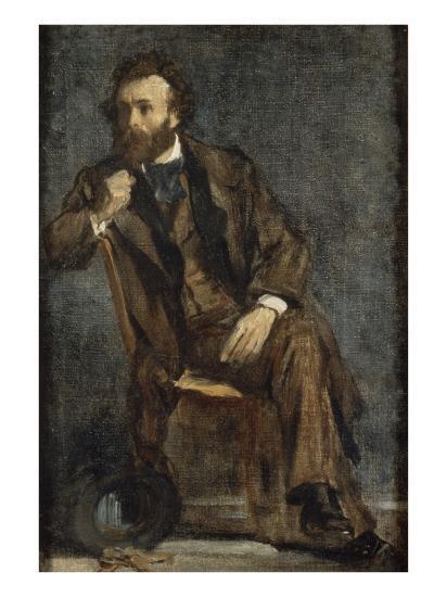 Portrait de Gustave Moreau-Edgar Degas-Giclee Print