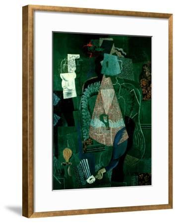 Portrait de Jeune Fille, 1914-Pablo Picasso-Framed Art Print