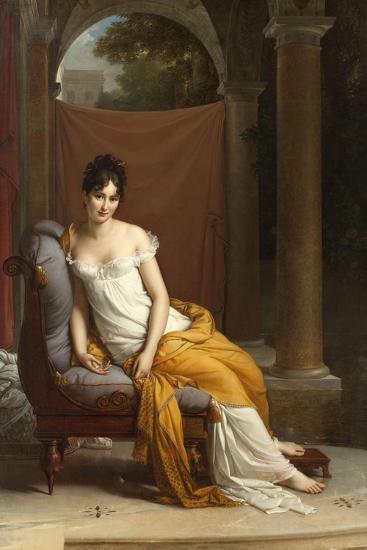 Portrait de Juliette Récamier-Francois Gerard-Giclee Print
