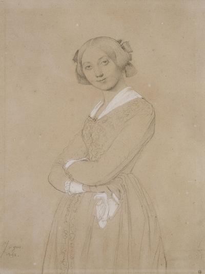 Portrait de la comtesse d'Haussonville. 1842-Jean-Auguste-Dominique Ingres-Giclee Print