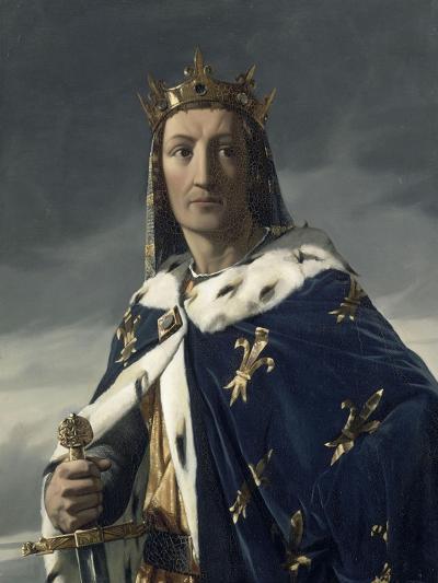 Portrait de Louis VIII (1187-1226), dit le Lion, roi de France en 1223-Henri Lehmann-Giclee Print