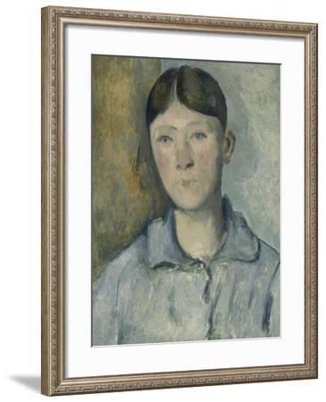 Portrait de madame Cézanne-Paul Cézanne-Framed Giclee Print