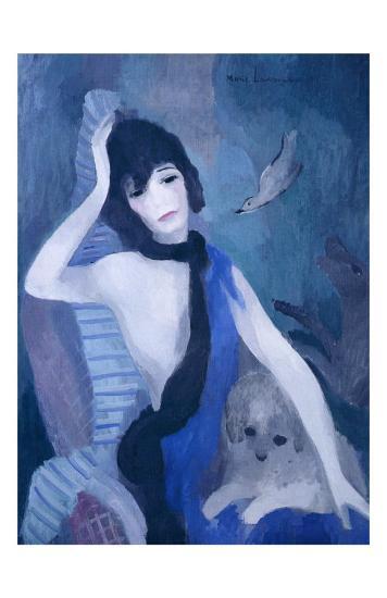Portrait de Mademoiselle Channel-Marie Laurencin-Art Print
