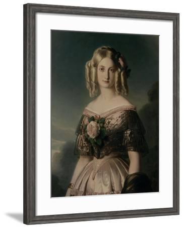 Portrait de Marie Caroline Auguste de Bourbon, duchesse d'Aumale (1822-1869)-Franz Xaver Winterhalter-Framed Giclee Print