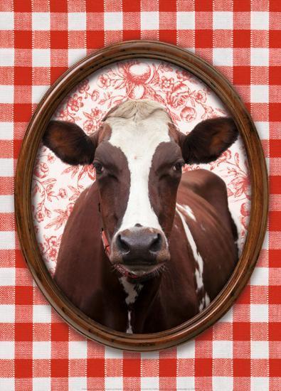 Portrait de Vache-Florence Deviller-Art Print