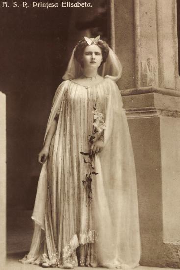Portrait Der Prinzessin Elisabeth Von Rumänien--Giclee Print