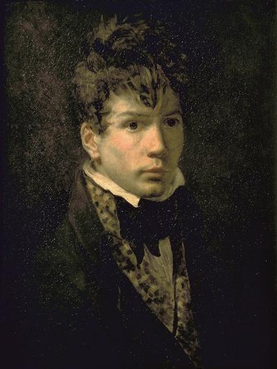 Portrait du peintre Jean Dominique Ingres, jeune-Jacques-Louis David-Giclee Print