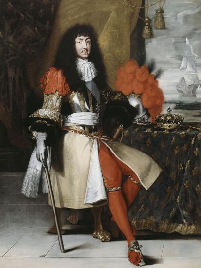 Portrait en pied de Louis XIV (1638-1715), roi de France et de Navarre-Claude Lefebvre-Giclee Print