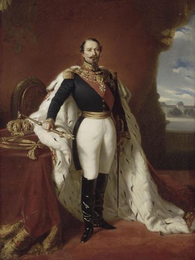 Portrait en pied de Napoléon III-Franz Xaver Winterhalter-Giclee Print