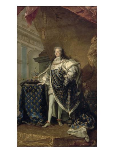 Portrait en pied vers 1723-1729 en grand manteau royal-Jean Baptiste Van Loo-Giclee Print