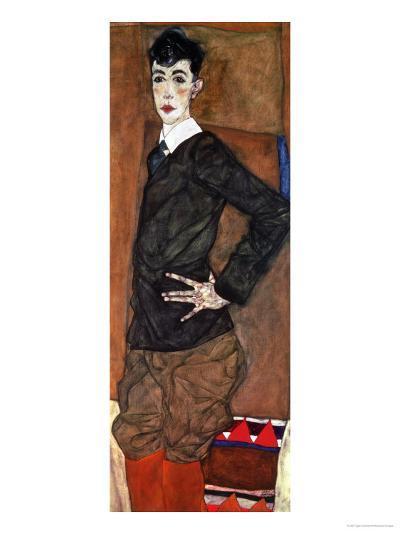 Portrait Erich Lederer, 1912-Egon Schiele-Giclee Print