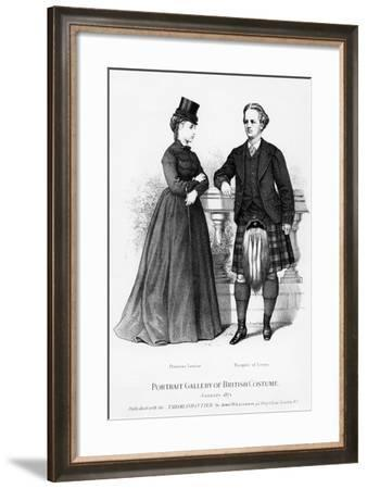 Portrait Gallery of British Costume--Framed Giclee Print