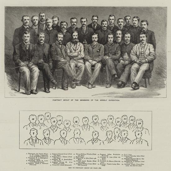 Portrait Group of the Members of the Greely Expedition--Giclee Print