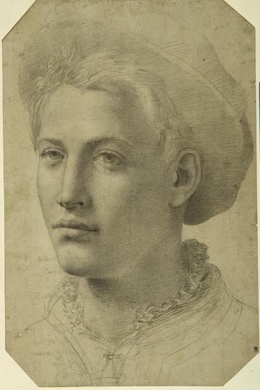 Portrait Head of a Youth Wearing a Cap, C.1530-40--Giclee Print