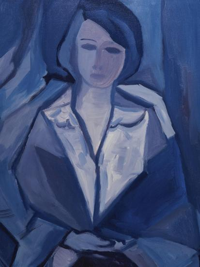 Portrait in Blue-Diana Ong-Giclee Print