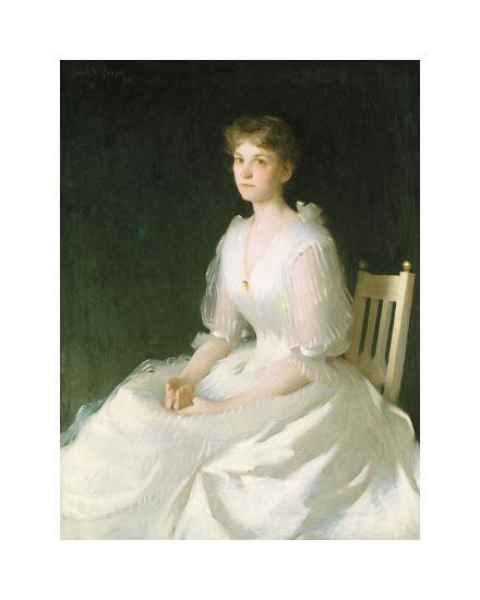Portrait in White, 1889-Frank Weston Benson-Premium Giclee Print