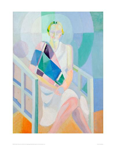 Portrait Madame Heim, 1927-Robert Delaunay-Giclee Print