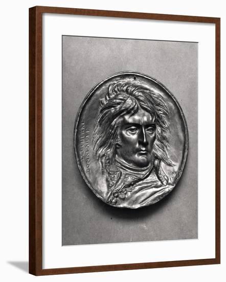 Portrait Medallion of General Bonaparte (1769-1821) circa 1830-Pierre Jean David d'Angers-Framed Giclee Print