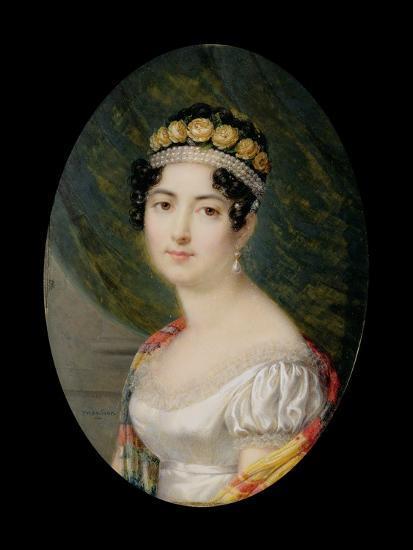 Portrait Miniature of the Empress Josephine-Andre Leon Larue-Giclee Print