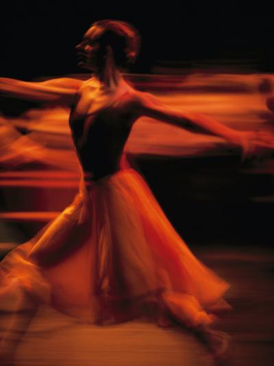 Portrait of a Ballet Dancer Bathed in Red Light, Nairobi, Kenya-Michael Nichols-Photographic Print