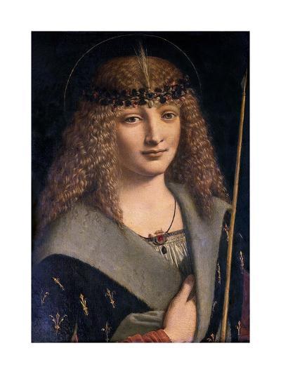 Portrait of a Boy as Saint Sebastian-Giovanni Antonio Boltraffio-Giclee Print