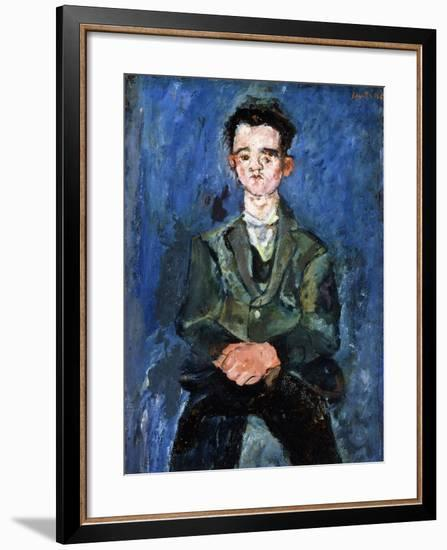 Portrait of a Boy in Blue, 1928-Chaim Soutine-Framed Giclee Print