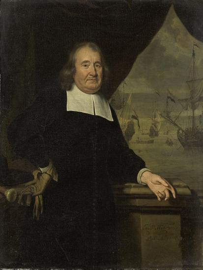 Portrait of a Captain or Ship-Owner-Michiel Van Musscher-Art Print