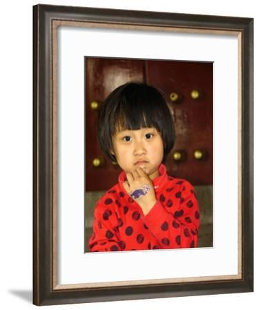 Portrait of a Chinese Girl-Richard Nowitz-Framed Photographic Print